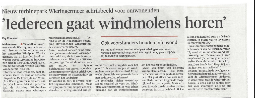 noord hollands dagblad 3-7-2014