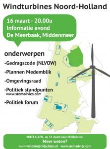 Informatieavond windturbines 16 Maart